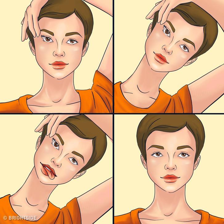 Những bài tập chống lão hóa vô cùng đơn giản để da mặt trẻ trung và săn chắc mà bạn có thể làm bất cứ lúc nào - Ảnh 7.