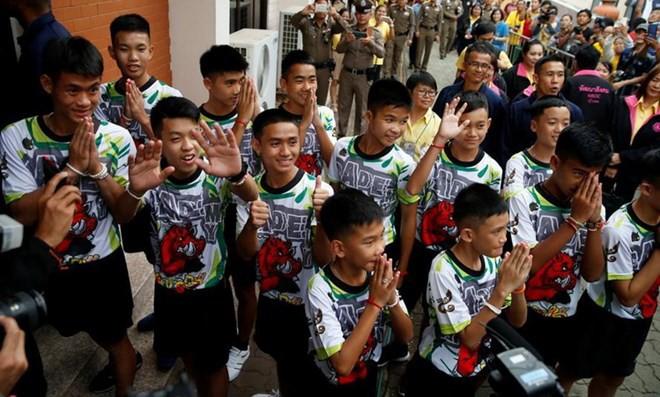 Đội bóng nhí Thái Lan họp báo: Hé lộ quyết định ai là người được ra khỏi hang trước 2