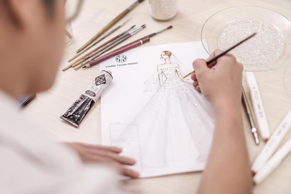 Hé lộ váy cưới lộng lẫy được thiết kế riêng cho Á hậu Tú Anh trong ngày trọng đại - Ảnh 2.