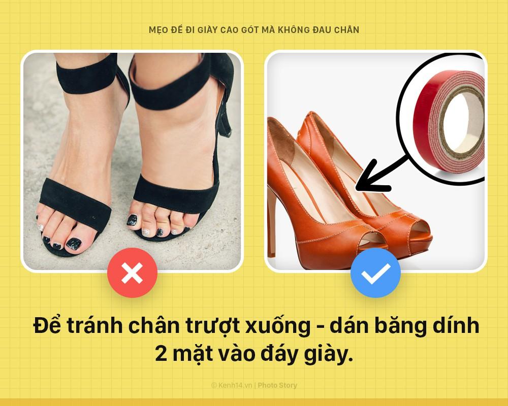 Muốn đi giày cao gót mà không sợ đau chân, nữ giới áp dụng không cần nghĩ ngay chùm mẹo vặt này - Ảnh 2.