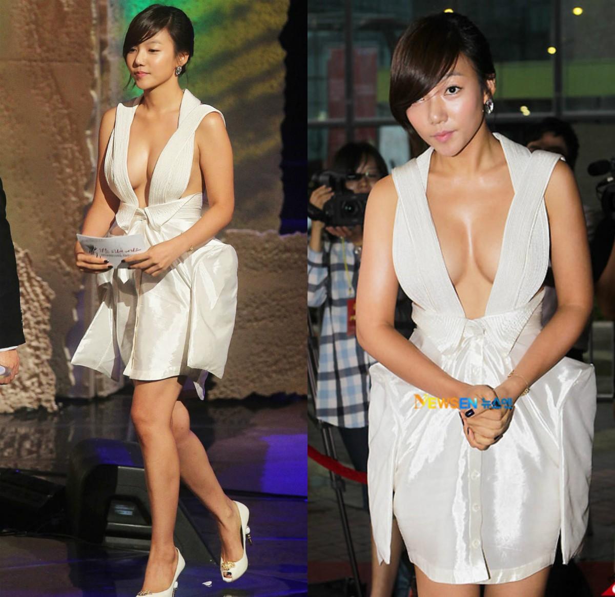 Những khoảnh khắc gây sốc đi vào lịch sử thảm đỏ Kbiz: Sao vô danh chiêu trò hở bạo, Goo Hye Sun bỗng lọt top - Ảnh 5.
