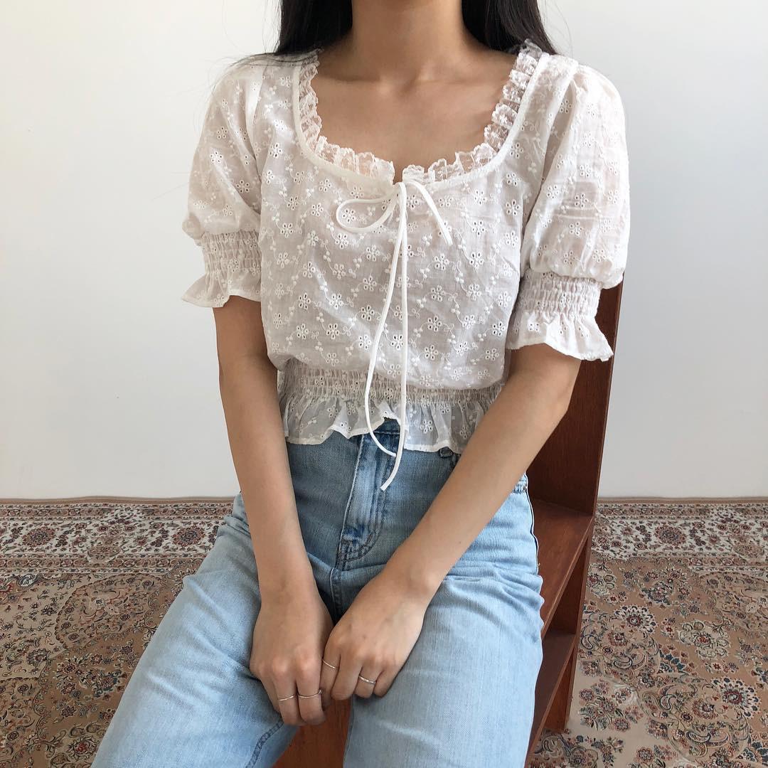 10 kiểu áo blouse hot nhất hiện nay, ngắm rồi chỉ muốn sắm cho bằng hết để mặc - Ảnh 11.