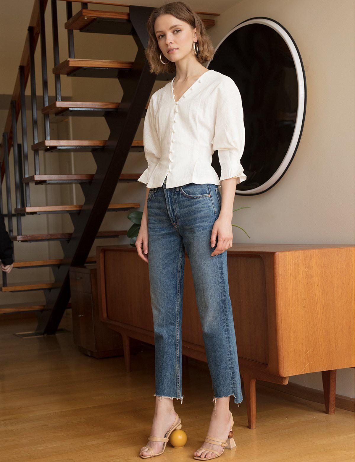10 kiểu áo blouse hot nhất hiện nay, ngắm rồi chỉ muốn sắm cho bằng hết để mặc - Ảnh 22.