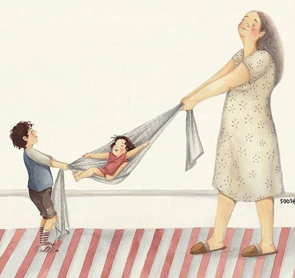 Mẹ và con gái: bộ tranh chạm đến những tình cảm ngọt ngào và bình dị nhất! - Ảnh 6.