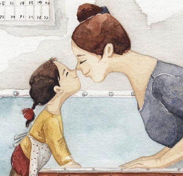 Mẹ và con gái: bộ tranh chạm đến những tình cảm ngọt ngào và bình dị nhất! - Ảnh 14.