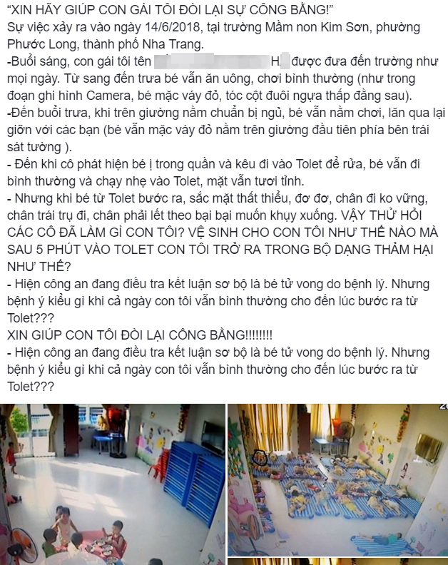 Đã có kết luận giám định pháp y chính thức vụ bé gái 4 tuổi tử vong bất thường tại trường mầm non ở Nha Trang - Ảnh 2.