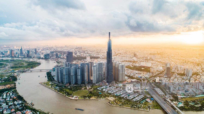 Chùm ảnh: Đứng ở tầng cao nhất Landmark 81, nhìn toàn cảnh Sài Gòn đẹp và bình yên đến thế! - Ảnh 1.