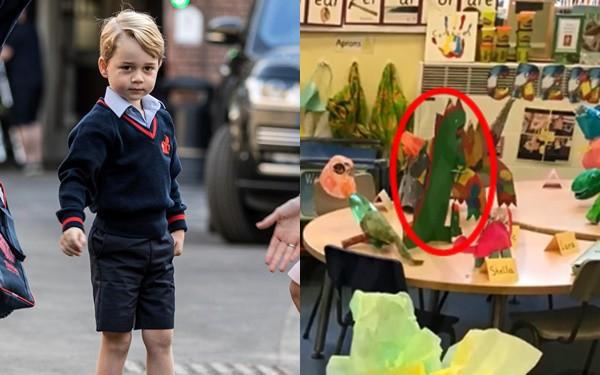 Người hâm mộ phát sốt khi tác phẩm nghệ thuật đầu tay của Hoàng tử George tại trường học được tiết lộ - Ảnh 2.