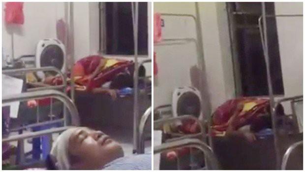 Sốc với đôi nam nữ trùm chăn ôm nhau, nghi mây mưa ngay trên giường bệnh viện, chị bệnh nhân ngứa mắt quay lại clip - Ảnh 4.