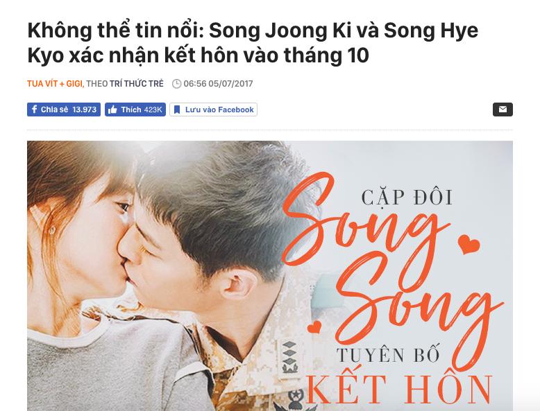 Còn nhớ ngày này năm ngoái, Song Joong Ki và Song Hye Kyo khiến cả châu Á chấn động vì tin tức này! - Ảnh 3.