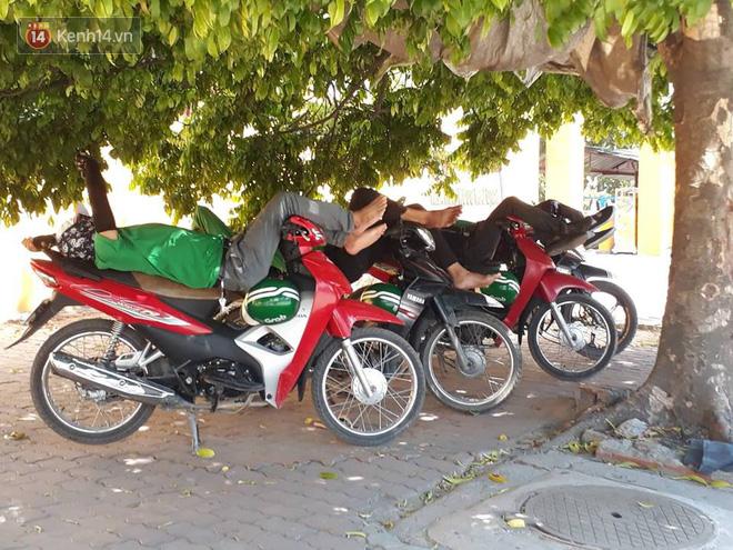 Ảnh: Những giấc ngủ trưa nhọc nhằn dưới tán cây, gầm cầu của người lao động trong đợt nắng nóng đỉnh điểm ở Thủ đô - Ảnh 8.