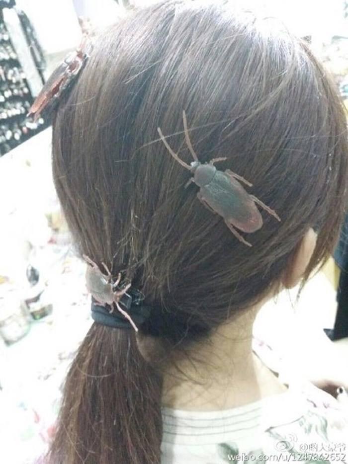 Cặp tóc thạch sùng, cặp tóc gián gây bão mạng xã hội - Ảnh 4.