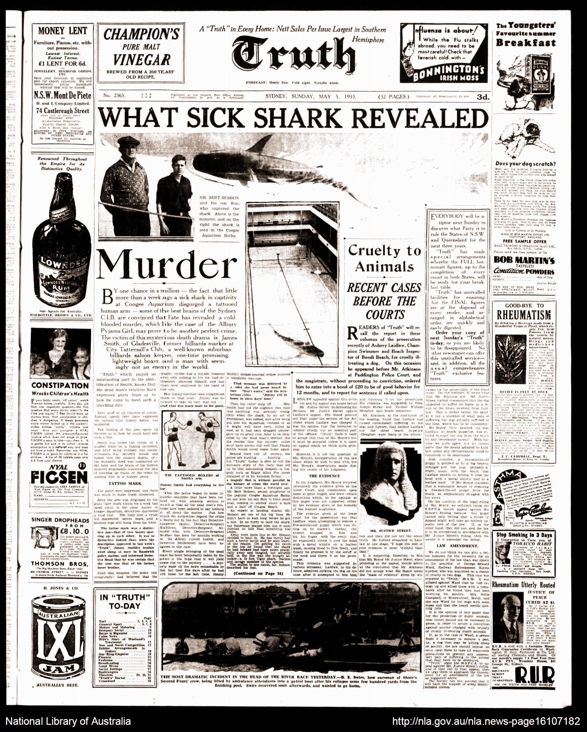 Úc: Cá mập ở thủy cung nôn ra cánh tay người hé lộ vụ án mạng nổi tiếng hơn 8 thập kỷ cảnh sát phải bó tay - Ảnh 6.