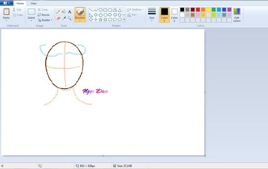 Chán khoe tài vẽ trên giấy, cư dân mạng quyết định khoe tranh vẽ bằng chuột máy tính trên MS Paint - Ảnh 1.