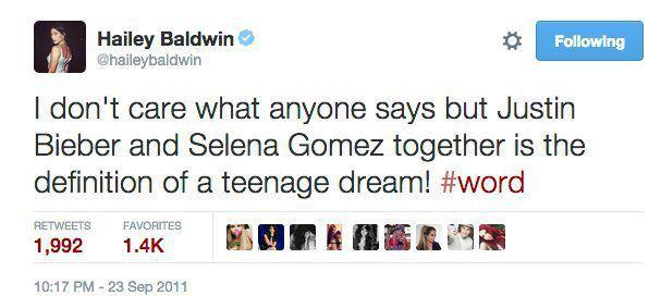 Đời luôn đầy bất ngờ: 7 năm trước Hailey từng hâm mộ đôi Justin - Selena, giờ lại là vợ sắp cưới của thần tượng - Ảnh 1.