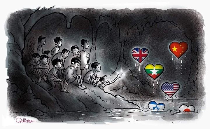 Những bức tranh dễ thương và ý nghĩa của dân mạng về hành trình giải cứu đội bóng Thái mắc kẹt - Ảnh 5.