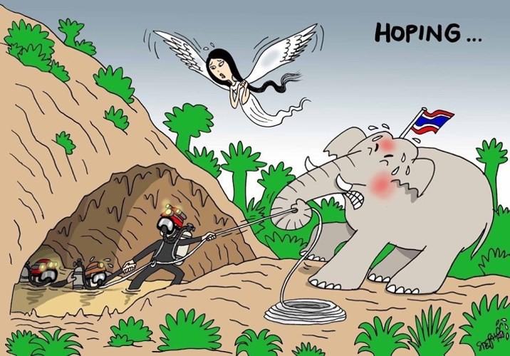Những bức tranh dễ thương và ý nghĩa của dân mạng về hành trình giải cứu đội bóng Thái mắc kẹt - Ảnh 6.