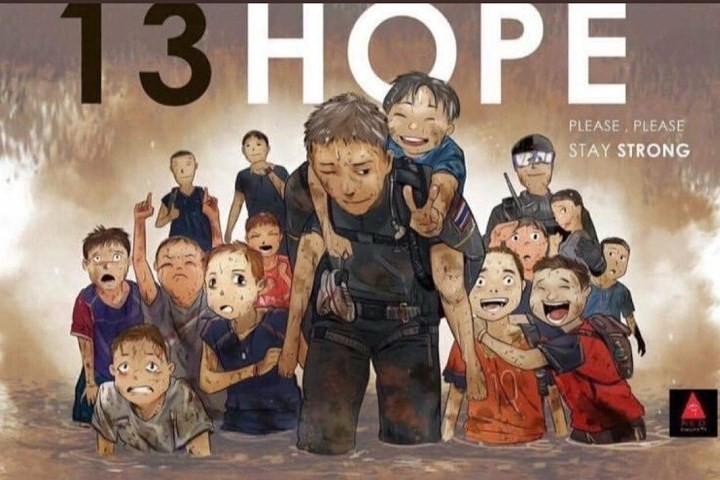 Những bức tranh dễ thương và ý nghĩa của dân mạng về hành trình giải cứu đội bóng Thái mắc kẹt - Ảnh 1.