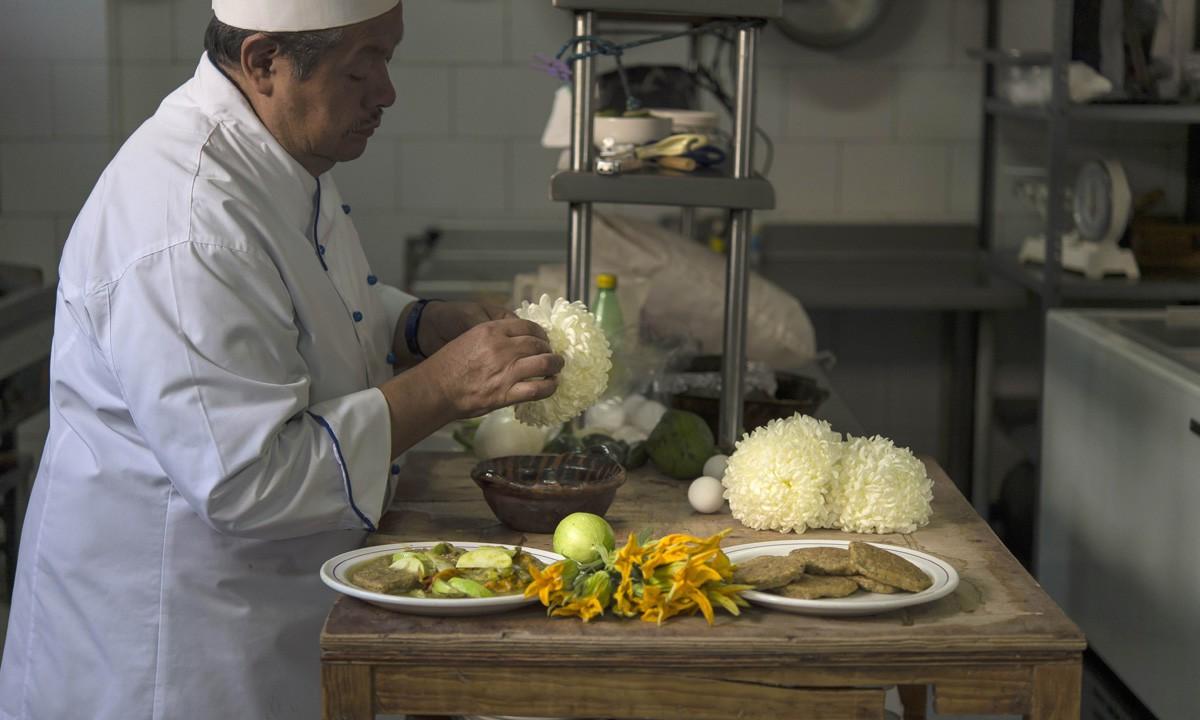 Trứng muỗi nấu với xương rồng, hoa cúc - món ăn khó tin nhưng lại vô cùng hấp dẫn với người Mexico - Ảnh 2.