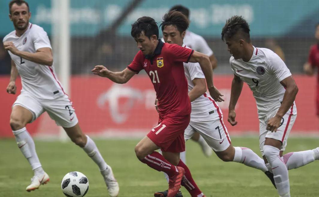 Olympic Lào thua trận mở màn bóng đá nam ASIAD 2018 - Ảnh 1.