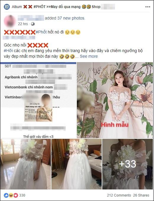 Cô gái đặt may váy xòe tiền triệu đi dự tiệc và kết quả như trang phục diễn văn nghệ thiếu nhi - Ảnh 1.