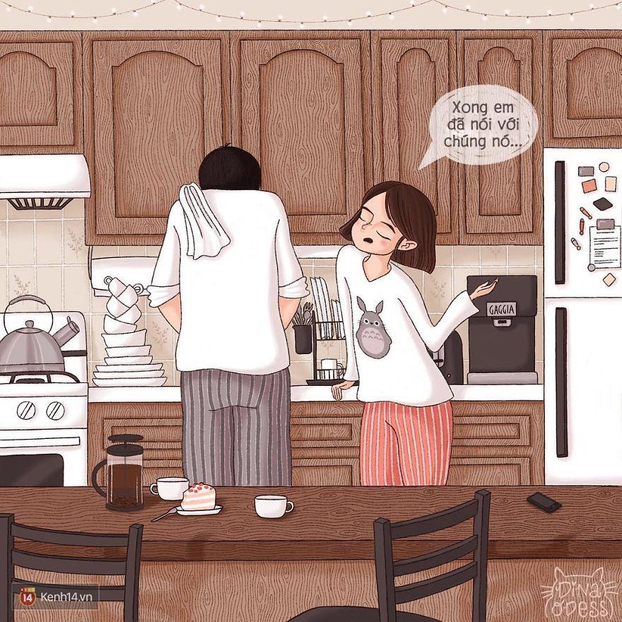 Bộ tranh: Tình yêu hạnh phúc chỉ là tất cả những mảnh ghép bé xíu và giản đơn - Ảnh 7.