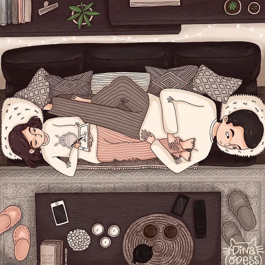 Bộ tranh: Tình yêu hạnh phúc chỉ là tất cả những mảnh ghép bé xíu và giản đơn - Ảnh 9.
