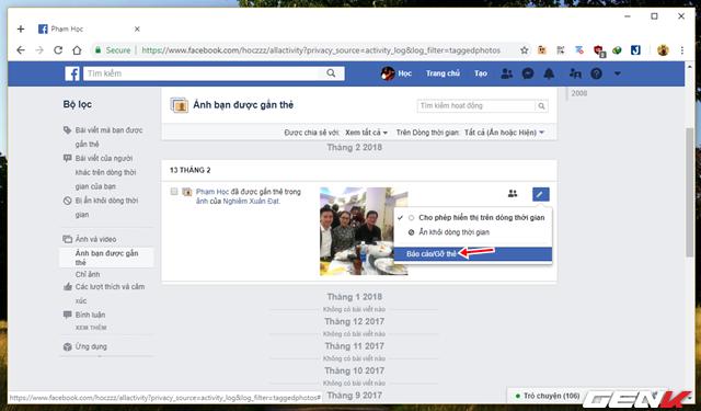 Những cách giúp xóa nhanh và triệt để tất cả hình ảnh và status đã đăng trên Facebook mà không sợ mất tài khoản - Ảnh 12.