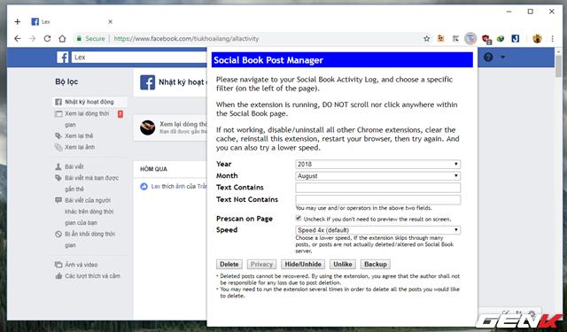 Những cách giúp xóa nhanh và triệt để tất cả hình ảnh và status đã đăng trên Facebook mà không sợ mất tài khoản - Ảnh 4.