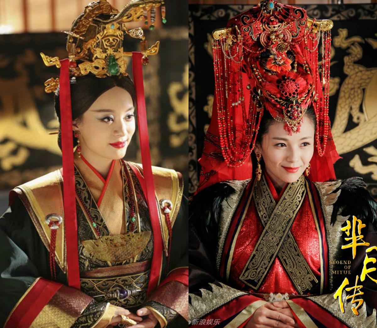 """Trong """"Mị Nguyệt truyện"""", Tôn Lệ và Lưu Đào vốn là tỷ muội tốt từ nhỏ, nhưng không ngờ chỉ vì tranh đoạt hoàng vị, tranh sủng, vinh hoa phú quý, tỷ muội trở mặt thành thù, cả Tôn Lệ lẫn Lưu Đào đều """"từ thiện hoá ác""""."""