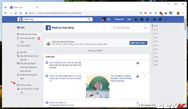 Những cách giúp xóa nhanh và triệt để tất cả hình ảnh và status đã đăng trên Facebook mà không sợ mất tài khoản - Ảnh 10.