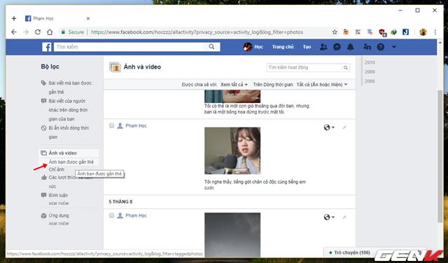 Những cách giúp xóa nhanh và triệt để tất cả hình ảnh và status đã đăng trên Facebook mà không sợ mất tài khoản - Ảnh 11.
