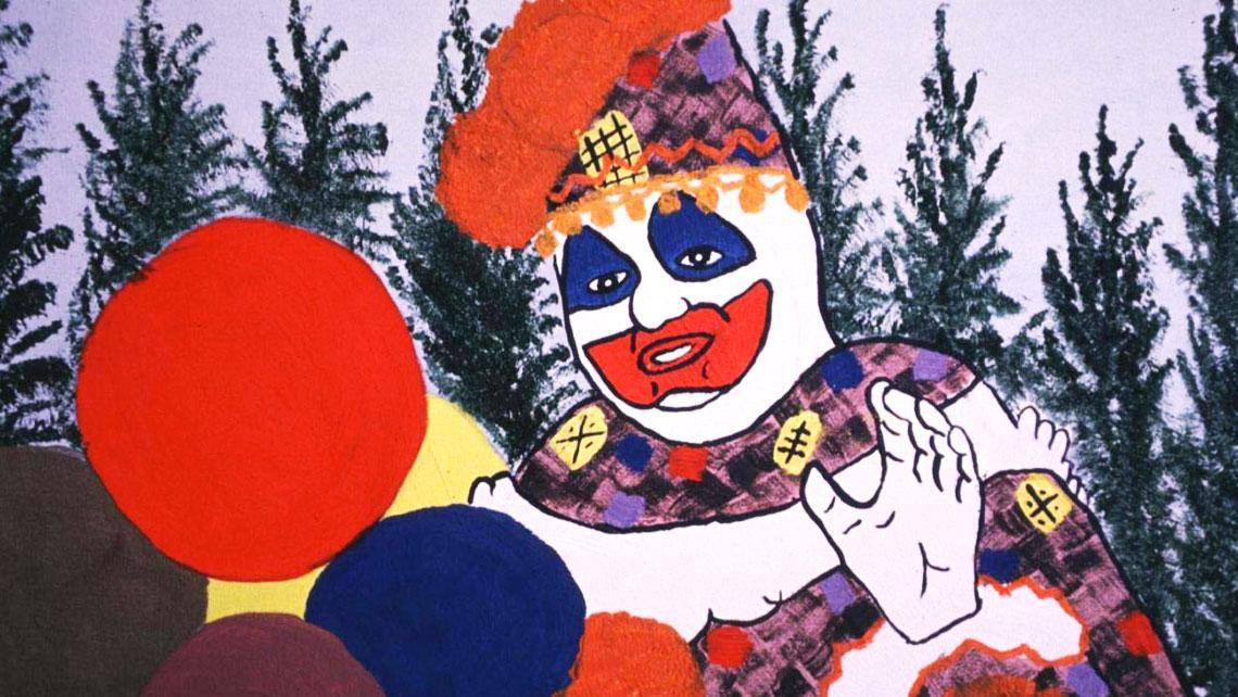 Một bức tranh biếm họa về Gacy –Killer Clown.