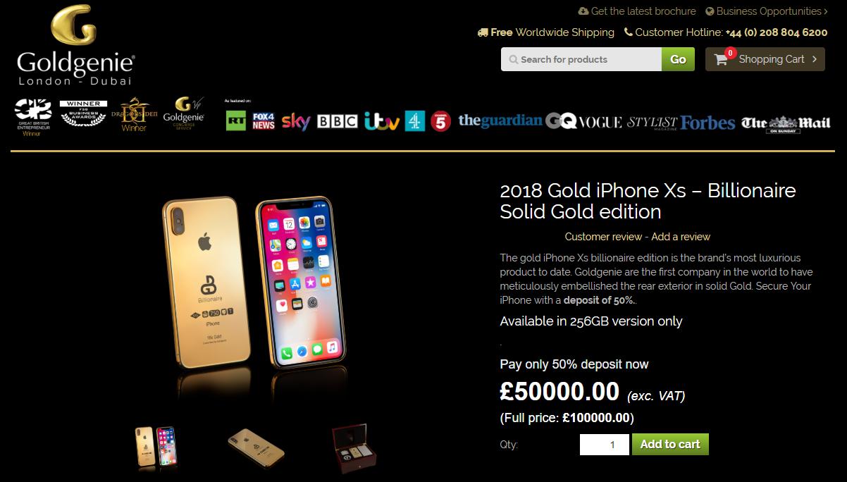 iPhone Xs ép vàng gần 3 tỷ đồng đã xuất hiện cho đặt online dù hàng gốc Apple tháng sau mới ra mắt - Ảnh 2.