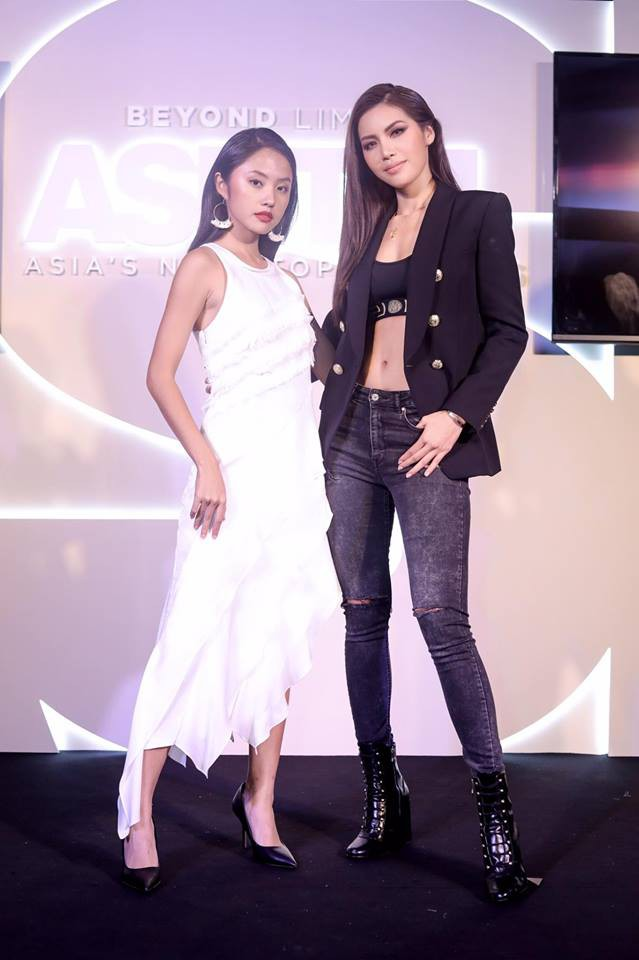 Minh Tú - Rima Thanh Vy cuối cùng cũng có bức hình chung tại họp báo Next Top châu Á - Ảnh 2.