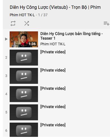 Diên Hi Công Lược bị gỡ khỏi YouTube, chỉ còn trailer
