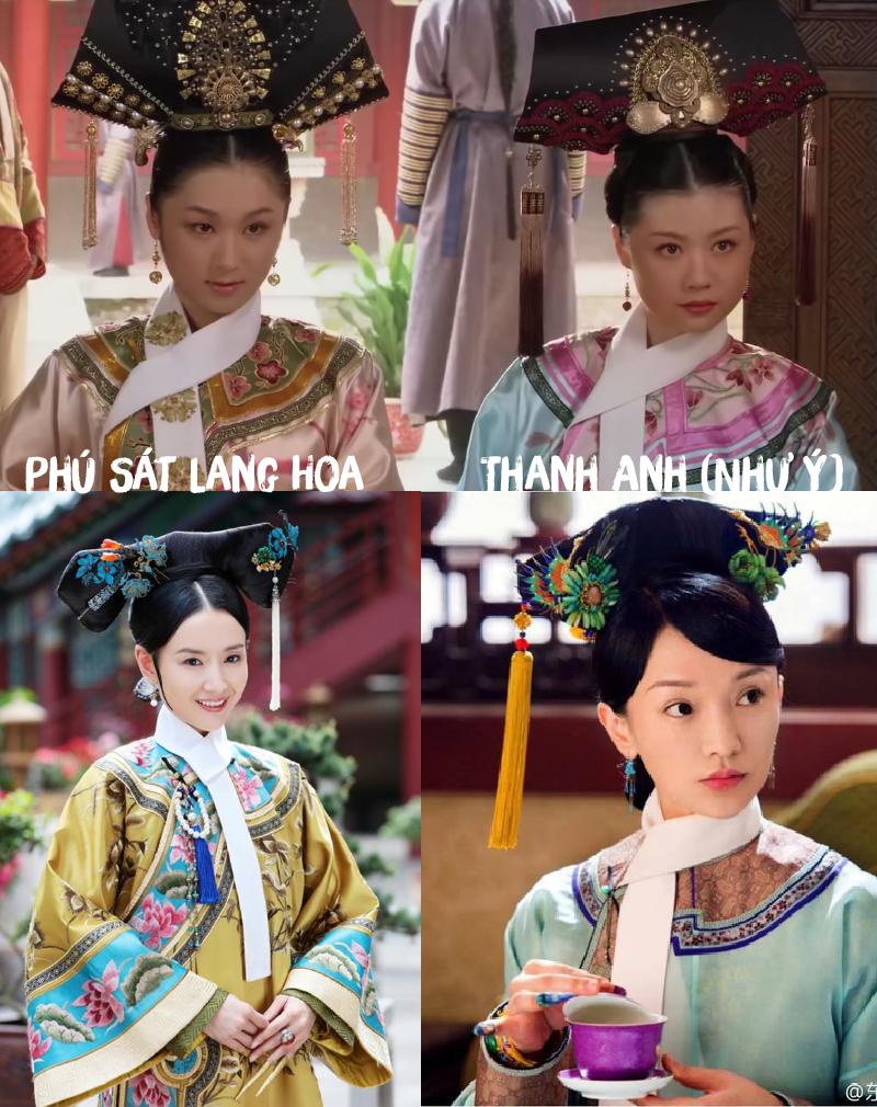 Hai nhân vật Lang Hoa và Như Ý đều đã xuất hiện ở Chân Hoàn Truyện