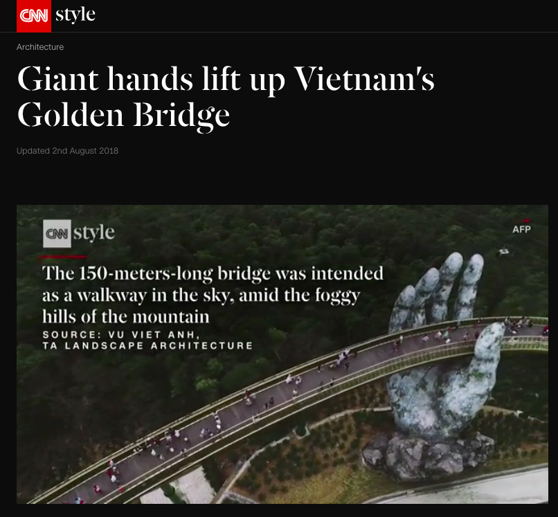 Cầu Vàng ở Đà Nẵng vẫn đang là từ khoá hot nhất trên các trang tin lẫn mạng xã hội quốc tế - Ảnh 6.