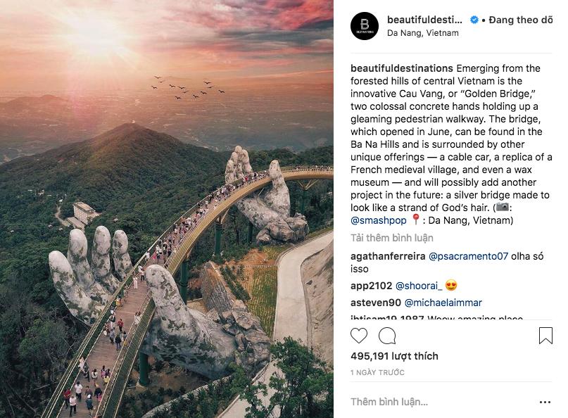 Cầu Vàng ở Đà Nẵng vẫn đang là từ khoá hot nhất trên các trang tin lẫn mạng xã hội quốc tế - Ảnh 12.