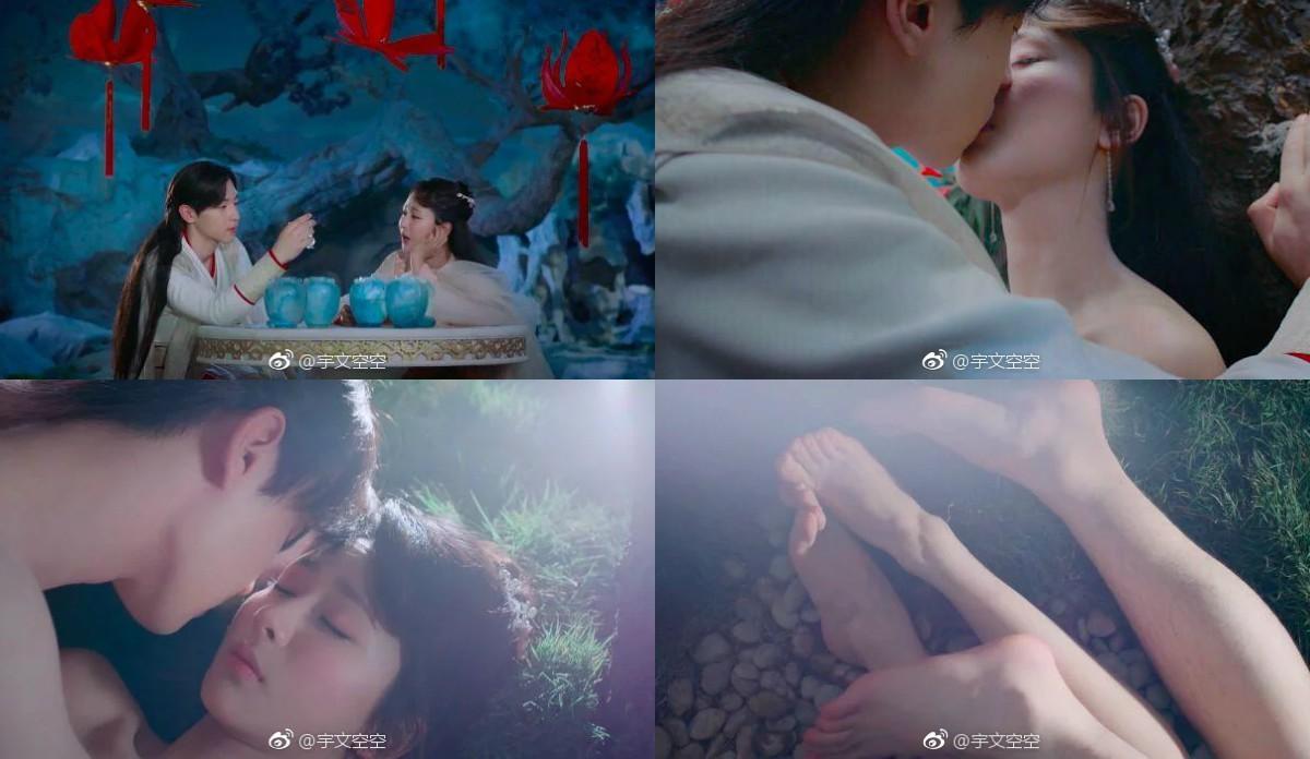 """Vậy mà cảnh """"song tu"""" của cặp chính đã được share ầm ầm trên mạng. (Nguồn : Weibo)"""