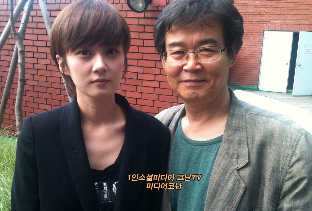 Jang Na Ra và bố.
