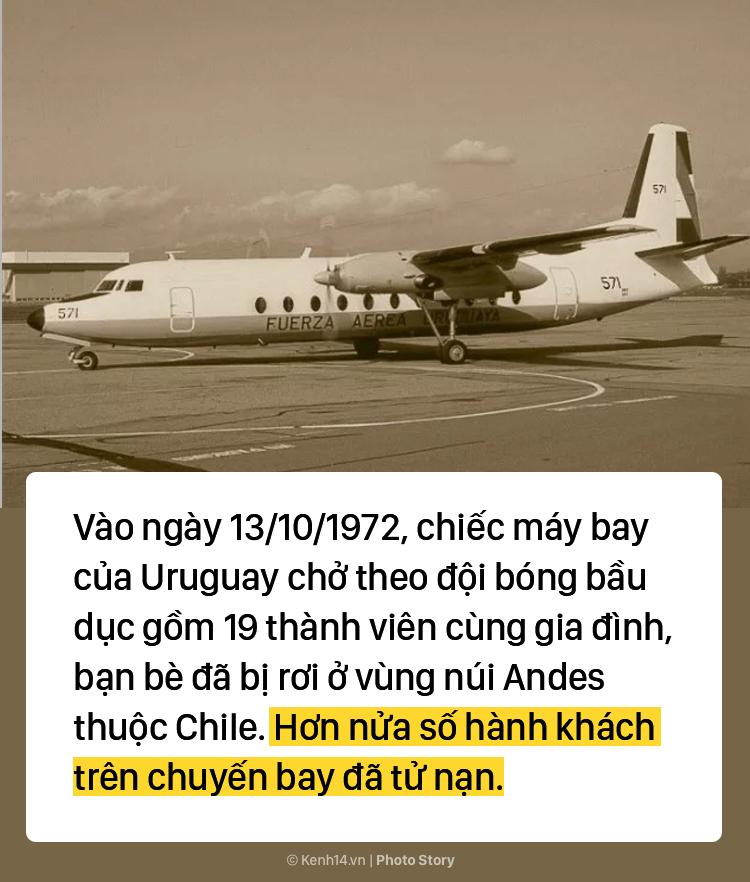 Thảm họa rơi máy bay tại Chile năm 1972: Buộc phải ăn thịt người khác để sống sót qua 72 ngày - Ảnh 1.
