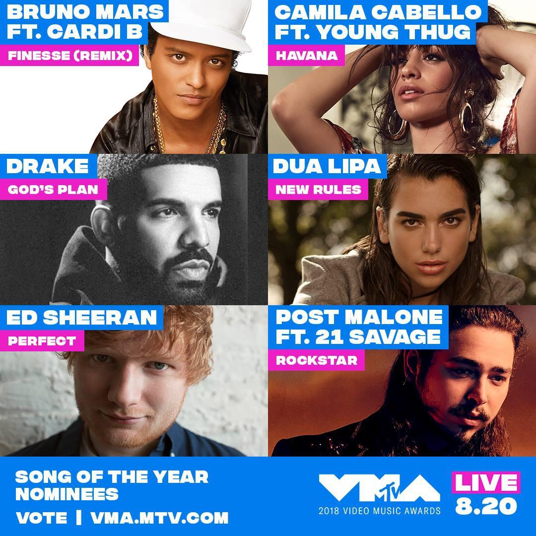 Có 1 ca khúc đánh bại được cả Camila - Ed Sheeran - Bruno Mars, chiến thắng giải lớn tại VMAs 2018 - Ảnh 1.