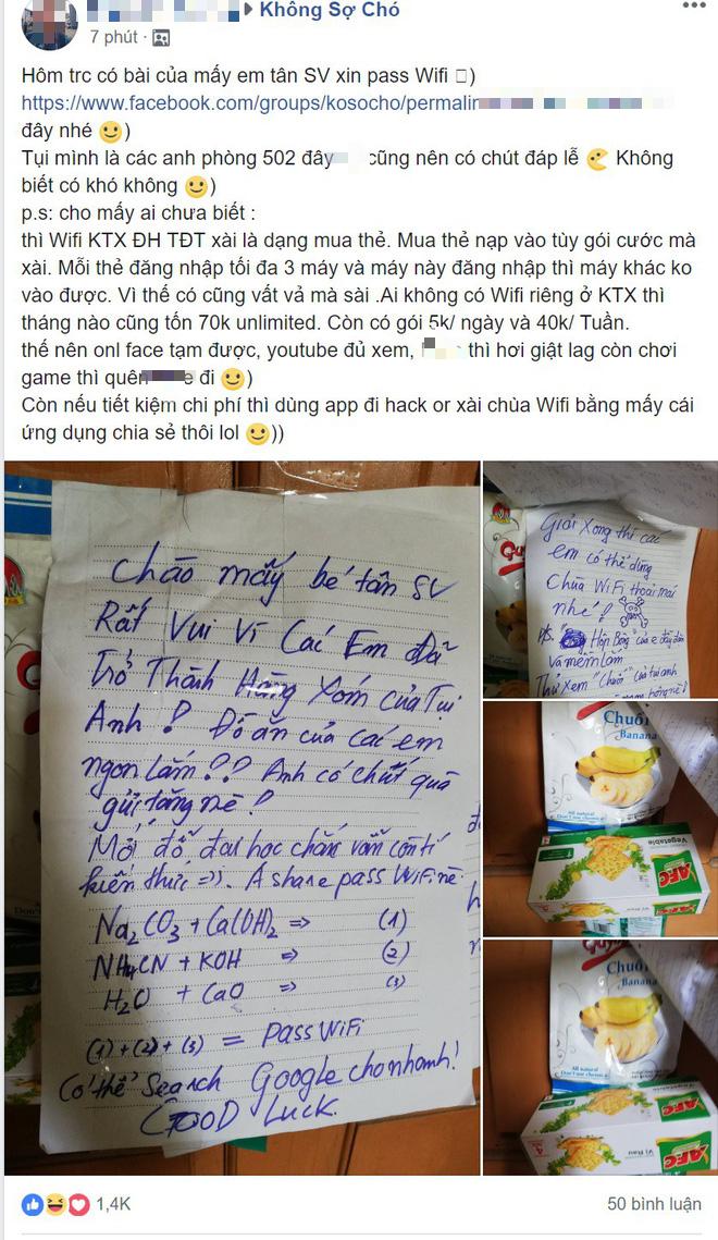 Cái kết của cô nàng xin pass wifi: Mật khẩu đã cho chỉ cần giải phương trình hóa học là dùng miễn phí - Ảnh 2.