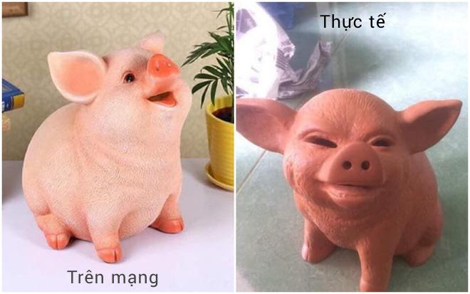 Đặt mua heo hồng cute qua mạng, thanh niên nhận về con lợn nhựa mặt mũi không thể gian manh hơn - Ảnh 1.