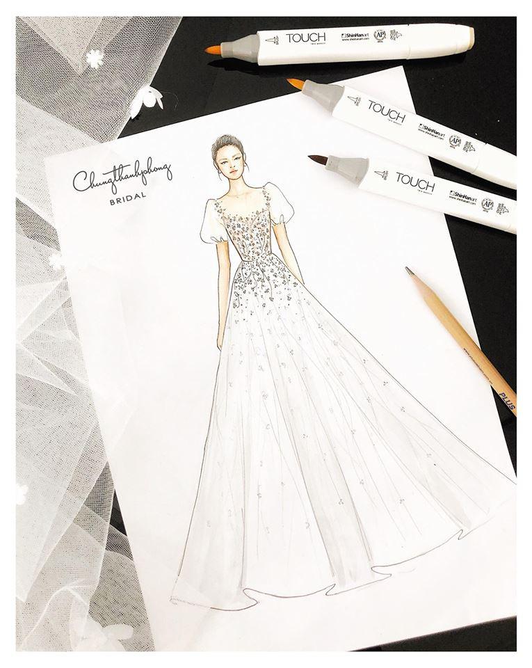 HOT: Váy cưới của Nhã Phương chính thức lộ diện, điệu đà như váy công chúa và mất 20 ngày để thực hiện - Ảnh 4.