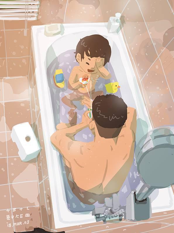 Bộ tranh cha và con trai đầy cảm xúc mà bất cứ ông bố trẻ nào cũng thấy mình trong đó - Ảnh 2.