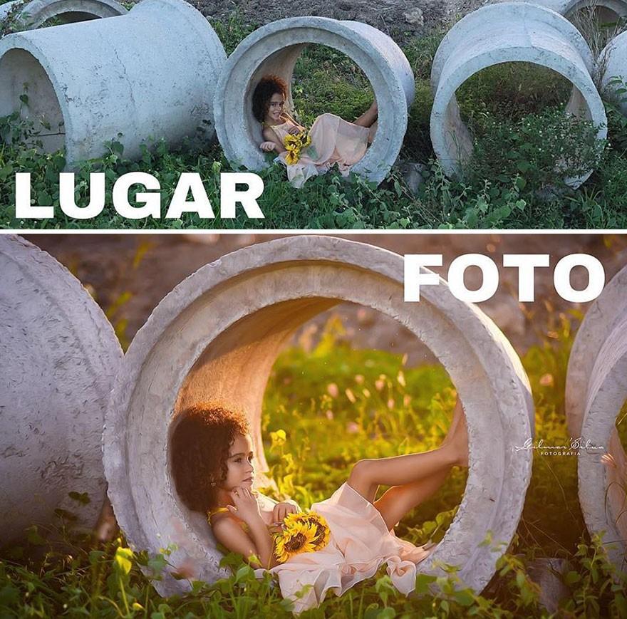 Thánh chụp ảnh Photoshop phong cách siêu tiết kiệm: Bãi lá khô cũng thành thắng cảnh, khu nước cạn cũng hóa hồ tiên - Ảnh 7.
