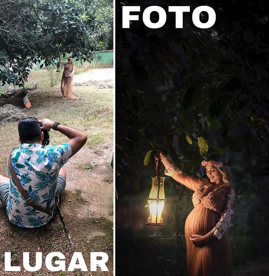 Thánh chụp ảnh Photoshop phong cách siêu tiết kiệm: Bãi lá khô cũng thành thắng cảnh, khu nước cạn cũng hóa hồ tiên - Ảnh 9.