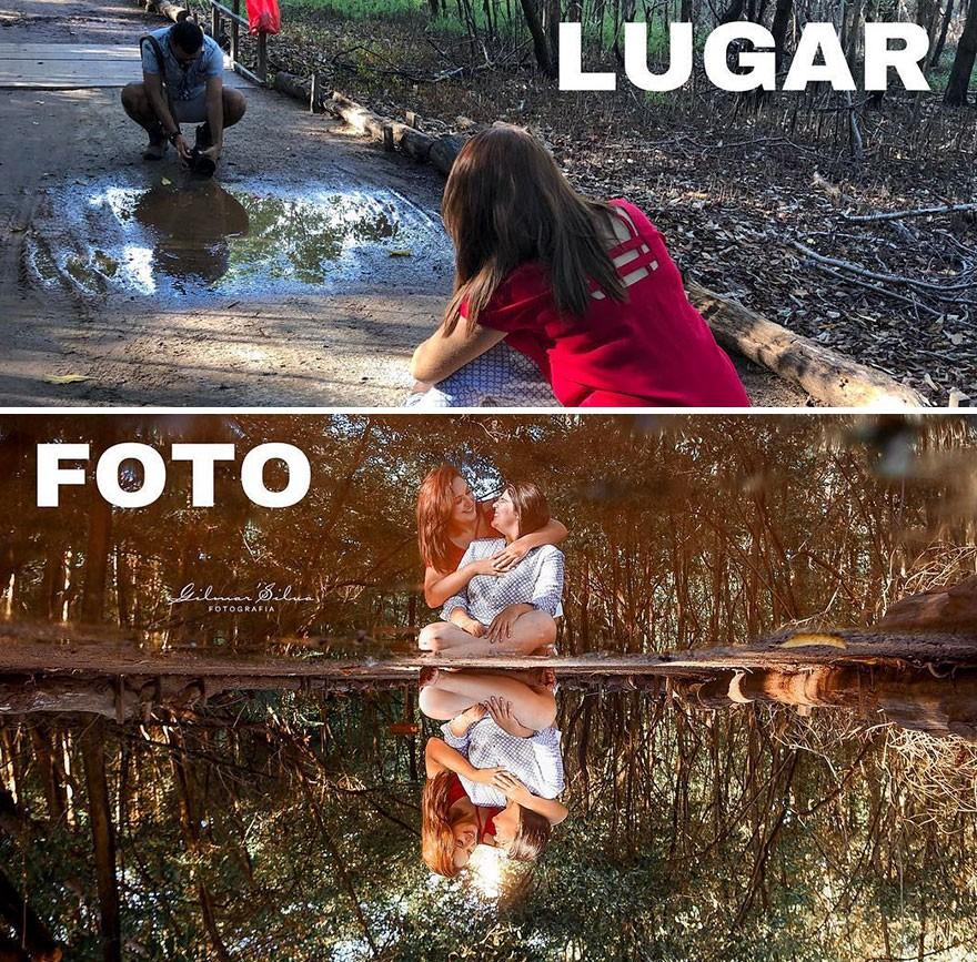 Thánh chụp ảnh Photoshop phong cách siêu tiết kiệm: Bãi lá khô cũng thành thắng cảnh, khu nước cạn cũng hóa hồ tiên - Ảnh 15.